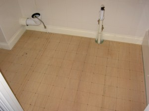 solid foundation for tiled bathroom floor