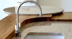 Granite and wood Kitchen tops