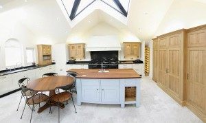 Wood and granite kitchen surfaces